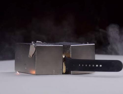 Apple Watch versão de ouro 18k esmagado por ímãs